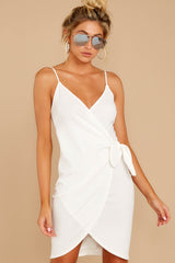 5 She's Arrived White Wrap Dress at reddressboutique.com