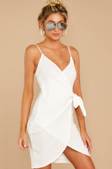 6 She's Arrived White Wrap Dress at reddressboutique.com