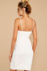 7 She's Arrived White Wrap Dress at reddressboutique.com