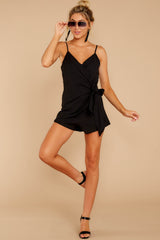 3 Sky's The Limit Black Romper at reddressboutique.com