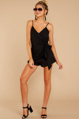 4 Sky's The Limit Black Romper at reddressboutique.com