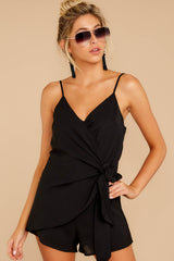 6 Sky's The Limit Black Romper at reddressboutique.com