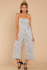 3 Leap Into Love White Cheetah Print Jumpsuit at reddress.com