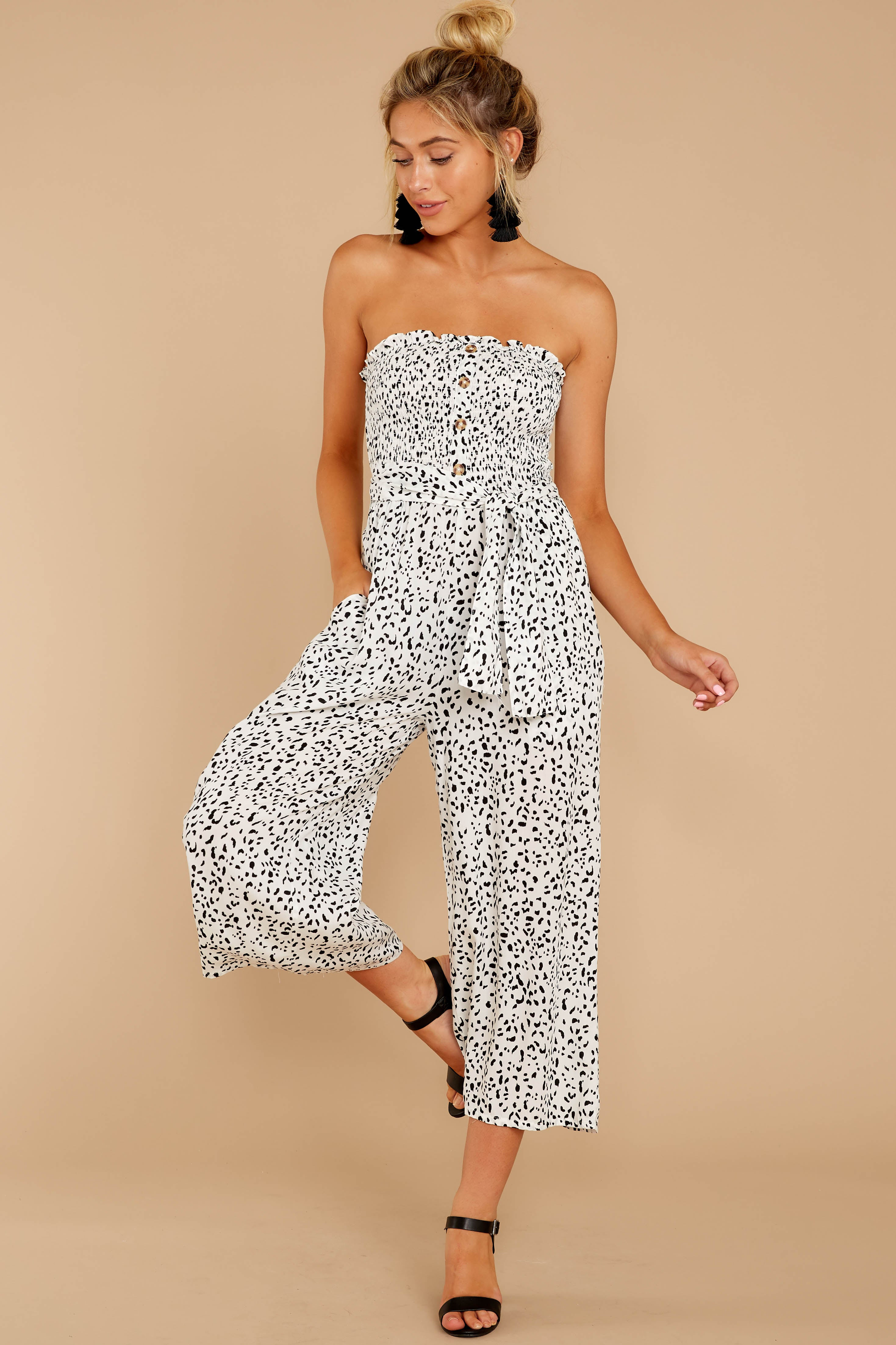 1 Leap Into Love White Cheetah Print Jumpsuit at reddress.com