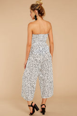 5 Leap Into Love White Cheetah Print Jumpsuit at reddress.com