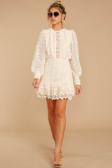 2 All Dressed Up Cream Lace Dress at reddressboutique.com