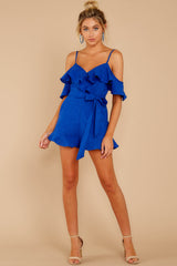 3 Ready For A Trip To The Coast Royal Blue Romper at reddress.com