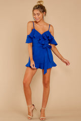 2 Ready For A Trip To The Coast Royal Blue Romper at reddressboutique.com
