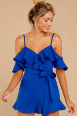 1 Ready For A Trip To The Coast Royal Blue Romper at reddress.com