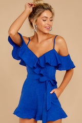 5 Ready For A Trip To The Coast Royal Blue Romper at reddressboutique.com