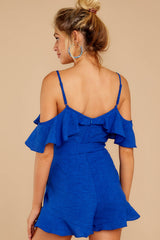 6 Ready For A Trip To The Coast Royal Blue Romper at reddressboutique.com