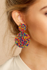 1 Around It All Rainbow Earrings at reddressboutique.com