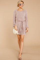 2 Right About It Mauve Chenille Sweater Dress @ reddress.com
