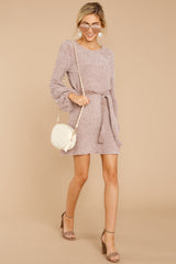 1 Right About It Mauve Chenille Sweater Dress @ reddress.com