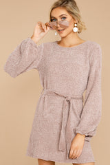 5 Right About It Mauve Chenille Sweater Dress @ reddress.com