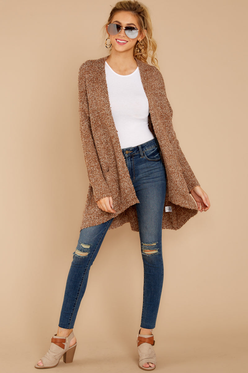 2 Moments With You Brown Cardigan at reddressboutique.com