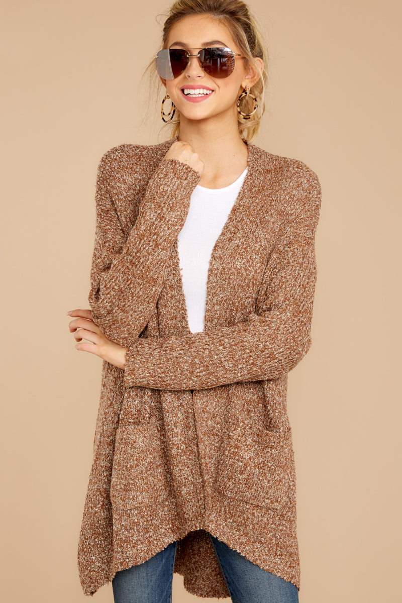 3 Moments With You Brown Cardigan at reddressboutique.com