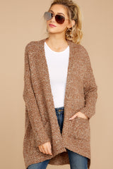 4 Moments With You Brown Cardigan at reddressboutique.com