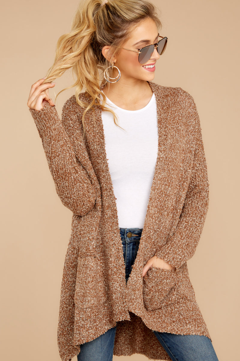 5 Moments With You Brown Cardigan at reddressboutique.com