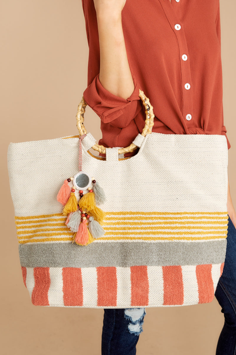 1 Needing This More Yellow Multi Stripe Bag at reddressboutique.com