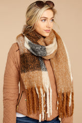 2 Wrapped In Warmth Tan Multi Scarf at reddress.com