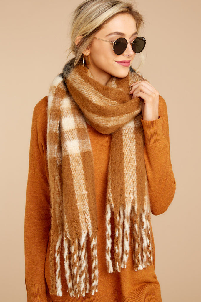 2 Fall Is Around White Multi Scarf at reddressboutique.com