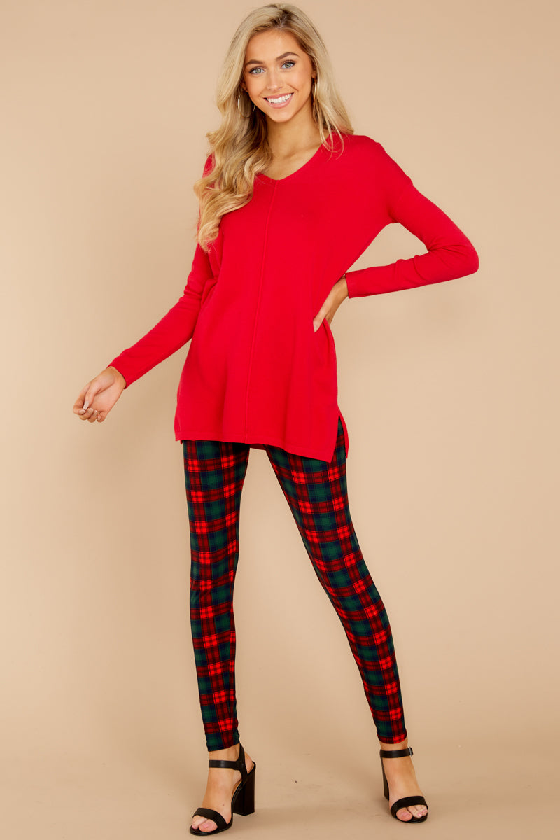 5 Give It A Rest Bright Red Sweater @ reddress.com