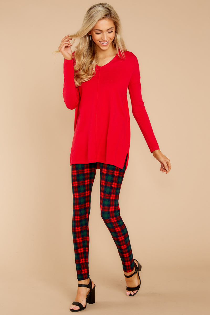 6 Give It A Rest Bright Red Sweater @ reddress.com