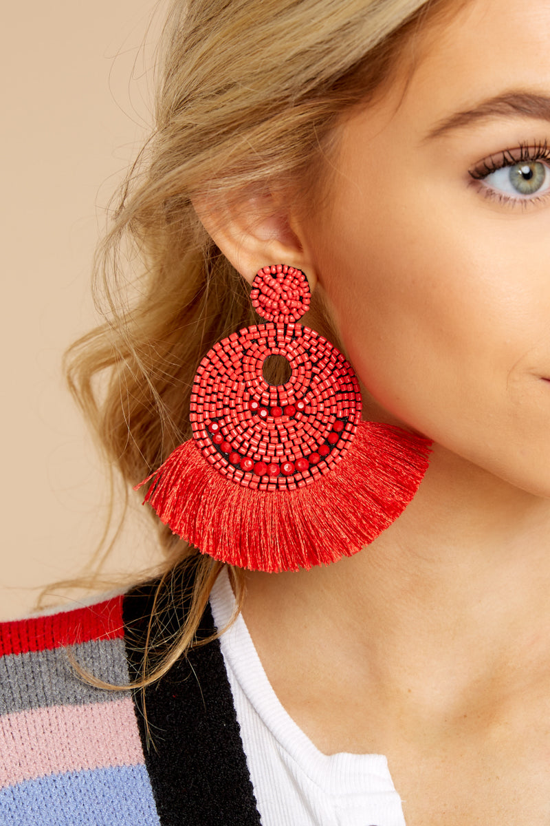 3 Greatest Ever Red Statement Earrings at reddressboutique.com