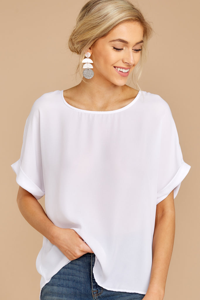 6 Around The Corner White Top at reddressboutique.com