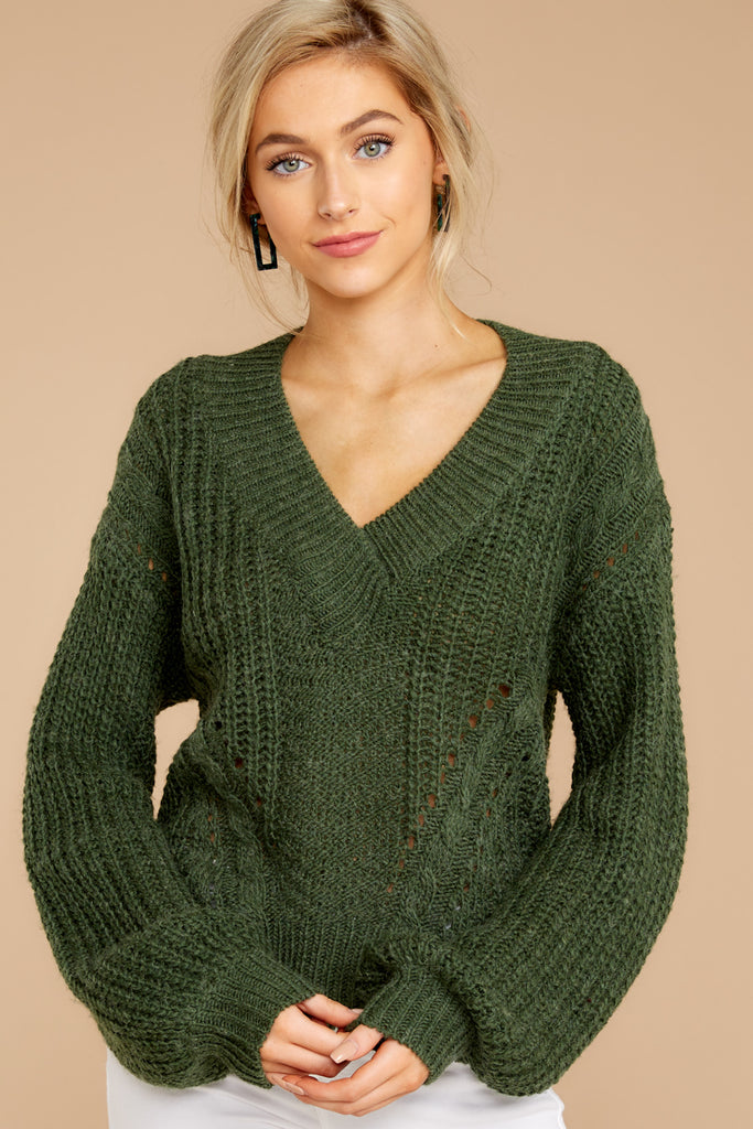 5 Stay Here Moss Sweater at reddressboutique.com