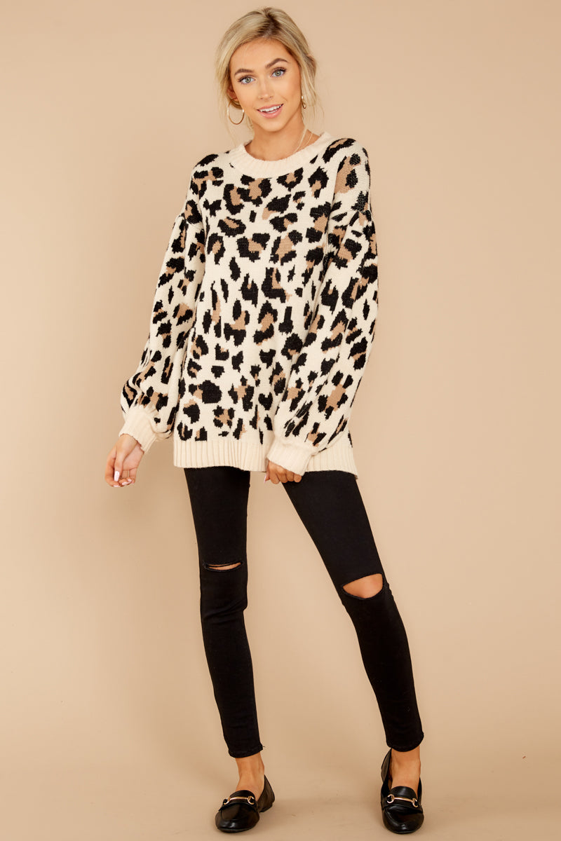 2 Stalk The Trend Leopard Print Sweater at reddressboutique.com