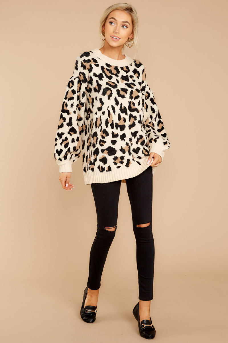 3 Stalk The Trend Leopard Print Sweater at reddressboutique.com