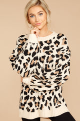 4 Stalk The Trend Leopard Print Sweater at reddressboutique.com