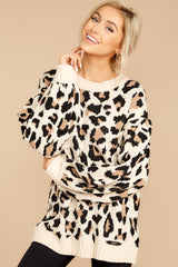 5 Stalk The Trend Leopard Print Sweater at reddressboutique.com