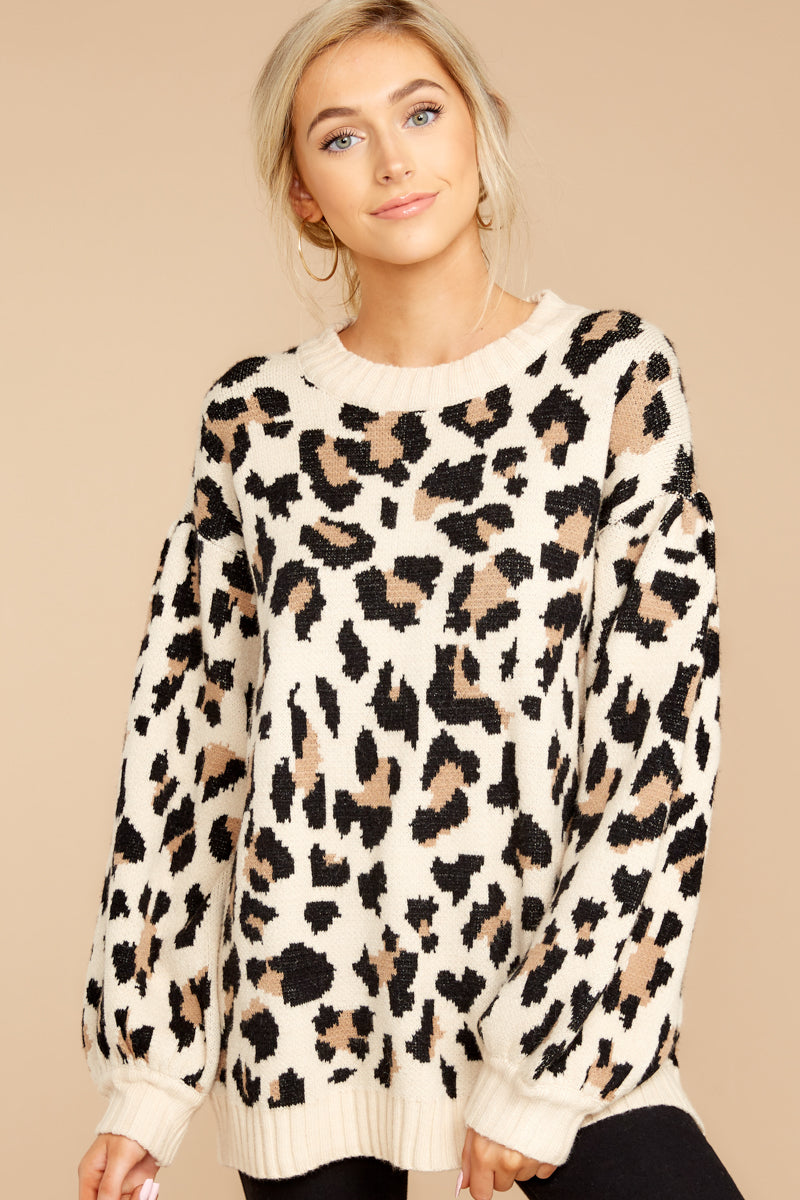 6 Stalk The Trend Leopard Print Sweater at reddressboutique.com