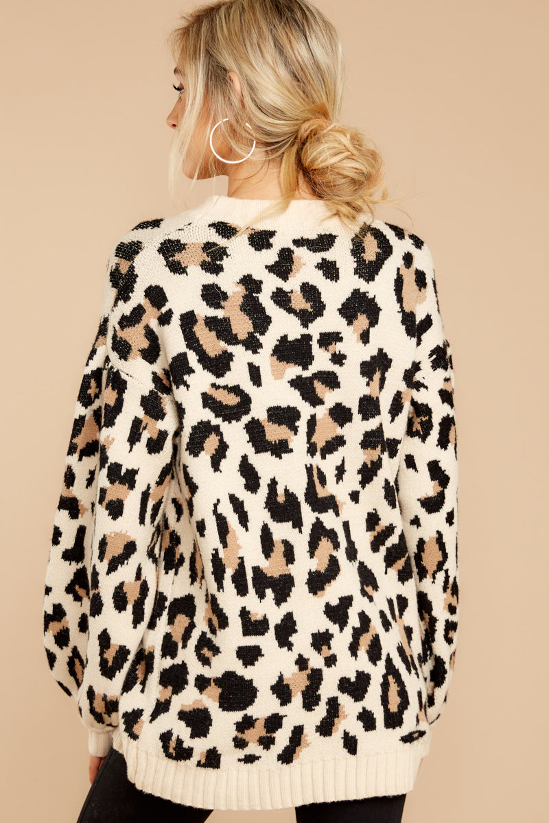 7 Stalk The Trend Leopard Print Sweater at reddressboutique.com