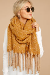 Fall Is Around Yellow Multi Scarf
