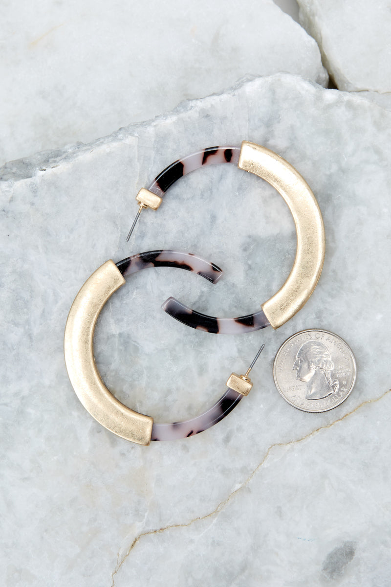 The One For It Ivory Tortoise Acrylic Earrings