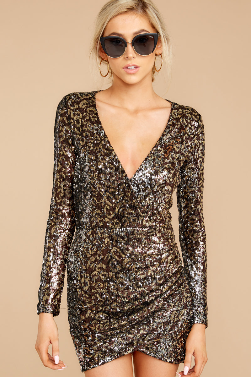 Savanna Chic Leopard Sequin Dress