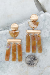 2 Well Within Brown Statement Earrings at reddressboutique.com