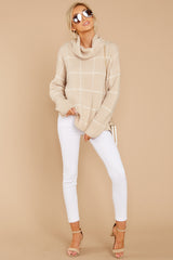 2 Across Central Park Beige Sweater at reddress.com