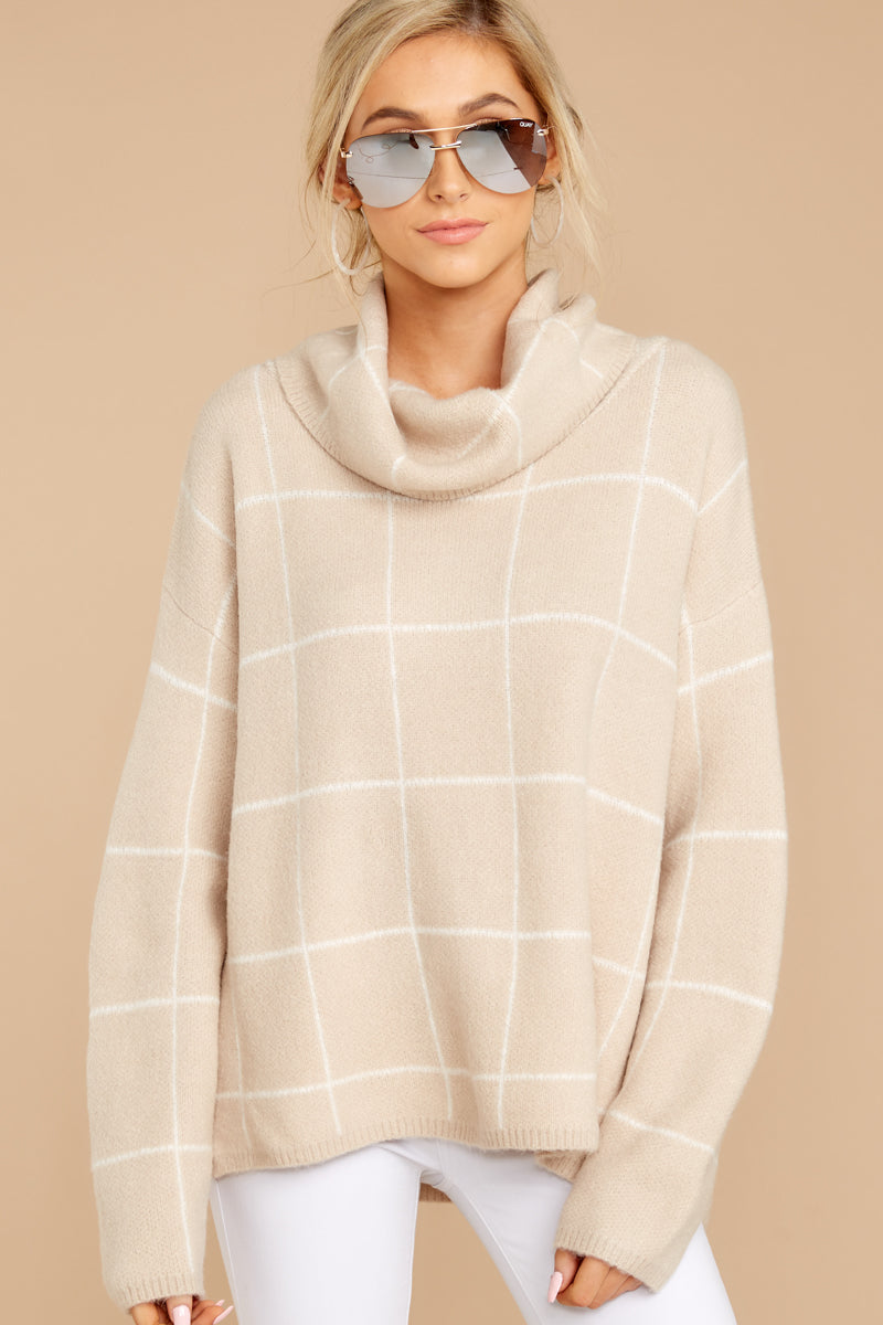 3 Across Central Park Beige Sweater at reddress.com