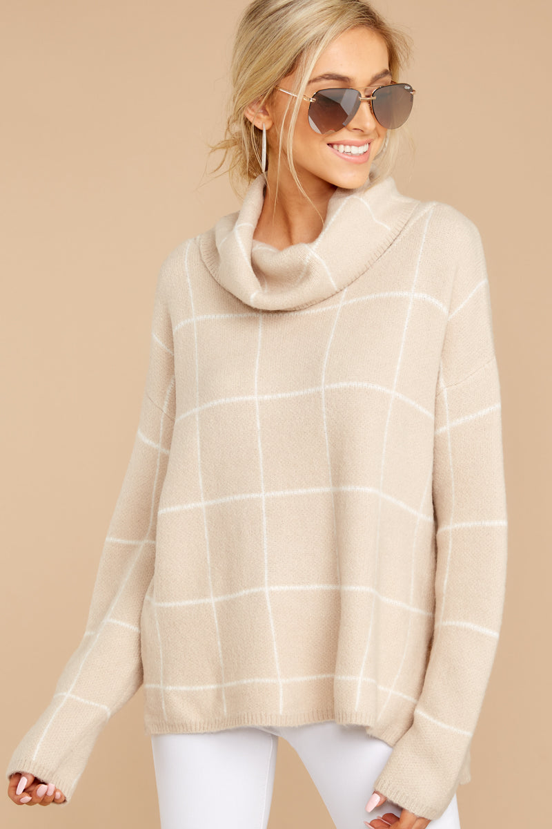 4 Across Central Park Beige Sweater at reddress.com