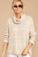5 Across Central Park Beige Sweater at reddress.com