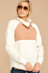 5 Comfort Times White Pullover at reddressboutique.com