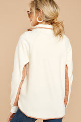 7 Comfort Times White Pullover at reddressboutique.com