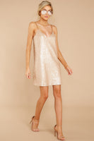 V-neck Polyester Sequined Party Dress/Slip Dress