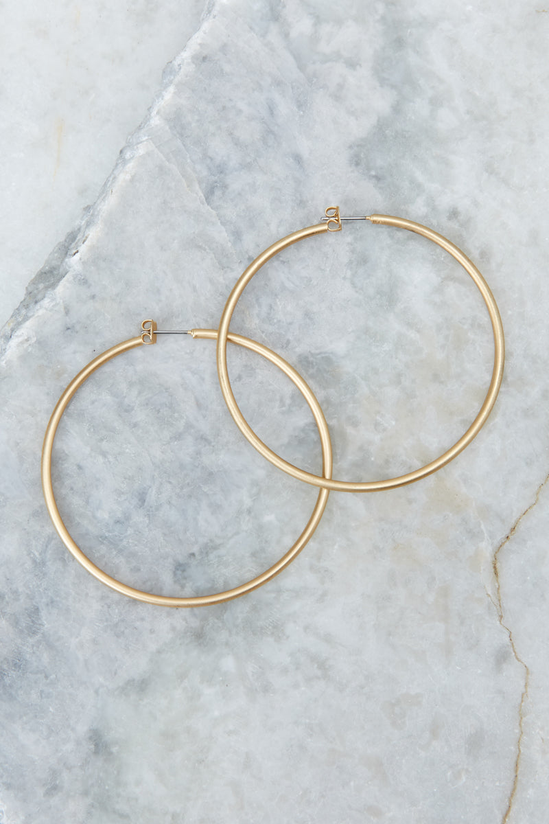 3 Circle Up Gold Hoop Earrings at reddressboutique.com