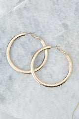 2 Admit The Truth Gold Hoop Earrings at reddress.com